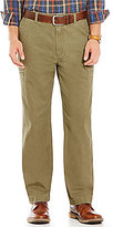 Roundtree & Yorke Casuals Flat-Front Zip Pocket Chino Pants