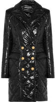 Balmain Double-breasted Shell Coat - Black