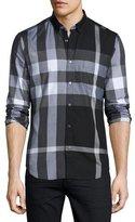Burberry Exploded Check Sport Shirt, Black