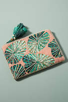 Anthropologie Palm Prints Clutch