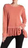Susina Ruffle Hem Sweatshirt (Regular & Petite)