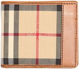 Burberry Classic Check Nylon & Leather Wallet