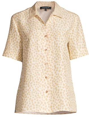 Lafayette 148 New York Madigan Button-Up Silk Blouse