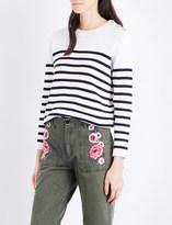 Claudie Pierlot Merlin striped cotton jumper