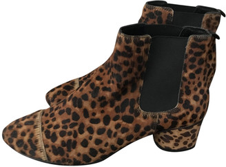 Boden Brown Faux fur Ankle boots