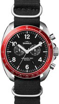 Shinola 44mm Rambler Tachymeter Watch, Black