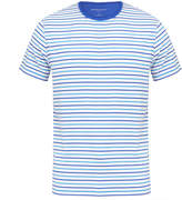 Derek Rose Alfie 3 Cobalt Cotton Striped T-Shirt