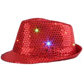 UMmaid LED Jazz Hat/Cap Flashing Dance Hat Bright Lighted Light Up Sequin Hat Sequins Show Colorful Performing Bling Hats for Dress Party