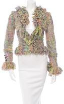 Chanel Textured Fringe-Trimmed Jacket