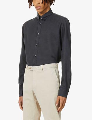 Oscar Jacobson Harry slim-fit woven shirt