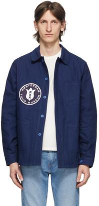 Junya Watanabe Navy Le Laboureur Edition Tulip Patch Work Jacket