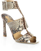 Salvatore Ferragamo Polaris Snakeskin Ankle-Strap Sandals