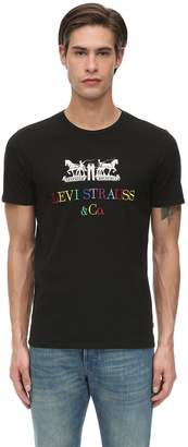 Levi's EMBROIDERED COTTON JERSEY T-SHIRT