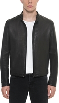 Forzieri Black Leather Men's Biker Jacket