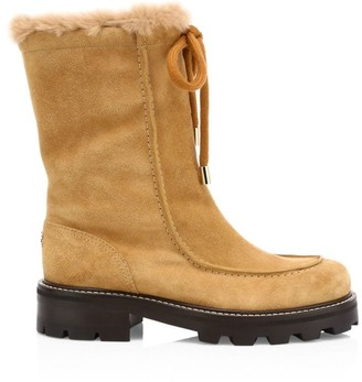 Jimmy Choo Buffy Shearling-Lined Suede Boots