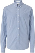 Scotch & Soda Gingham Check Cotton Poplin Shirt, Blue/White