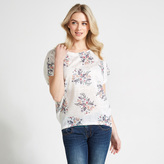 Apricot White Spring Floral Bouquets Print T-Shirt