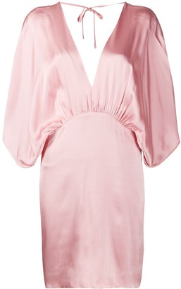 Semi-Couture Plunge Neck Dress