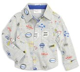 ROSIE POPE 'Wham Bang' Button Front Shirt (Baby Boys)