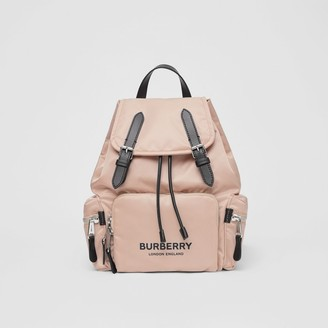 Burberry The Medium Rucksack in Logo Print ECONYL