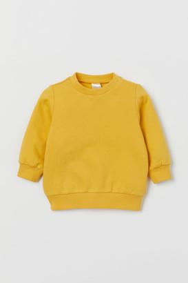 H&M Cotton Sweatshirt - Yellow