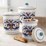 Sur La Table Deruta-Style Canisters, Set of 3