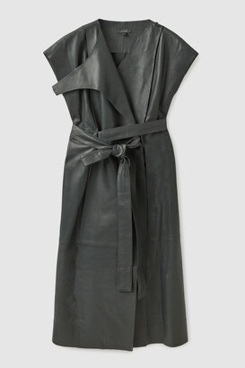 Cos Belted Leather Dress