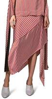 Topshop Women's Stripe Knot Midi Skirt