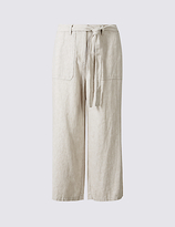 M&S Collection Linen Rich Cropped Trousers