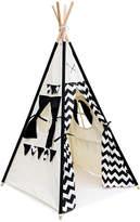 4 Poles Teepee Tent w/ Storage Bag Black
