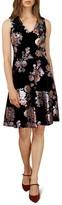 ECI Women's Metallic Floral Velvet A-Line Dress