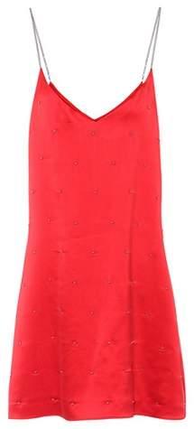 Amiri Embellished silk slip dress