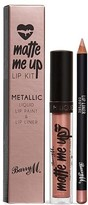 Barry M Matte Me Up Metallic Lip Kit - Couture