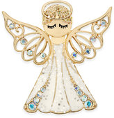 Charter Club Gold-Tone Blue Crystal White Angel Pin, Only at Macy's