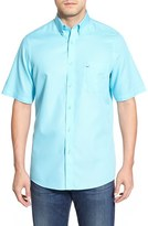 Nordstrom Men's 'Classic' Smartcare(TM) Regular Fit Short Sleeve Cotton Sport Shirt