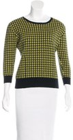 Erdem Houndstooth Three-Quarter Sleeve Sweater