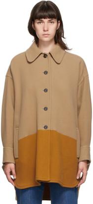 Chloé Brown Wool Color Block Jacket