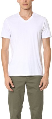 Vince Men's Favorite Pima Cotton Short Sleeve V-Neck Tee
