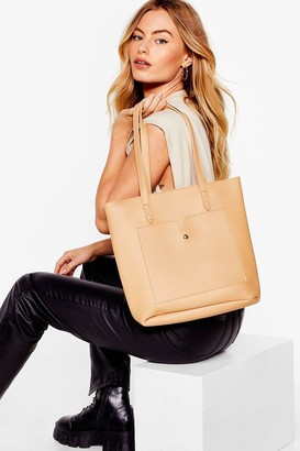 Nasty Gal Womens PU 2 in 1 Day Bag - Beige