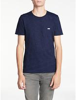Denham Crew Neck T-shirt, Indigo