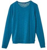 Petit Bateau Womens long-sleeved button-neck tee in jersey stockinette
