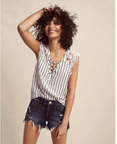 Express low rise distressed cutoff shorts