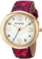 Sperry Women's 10014921 Sandbar Analog Display Japanese Quartz Red Watch