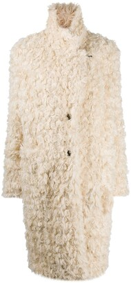 Baum und Pferdgarten Long-Sleeved Faux Shearling Coat