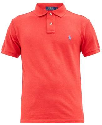 Polo Ralph Lauren Logo-embroidered Cotton-pique Polo Shirt - Mens - Red