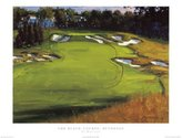 iSi 18th Hole Beth Page by Edward Martinez 16x20 Art Print Poster Golf Course Greens Final Hole