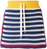 RED Valentino knit panel drawstring skirt