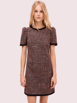 Kate Spade Puff Sleeve Tweed Dress