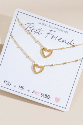francesca's Best Friend Heart Pendant Necklaces - Gold