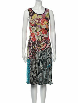 Mary Katrantzou Printed Midi Length Dress Orange